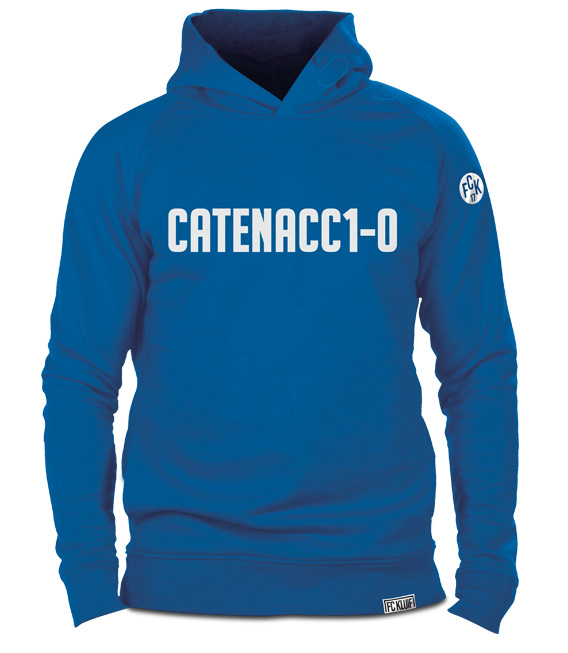 Catenaccio voetbaltrui hoodie van organisch katoen in het azuurblauw