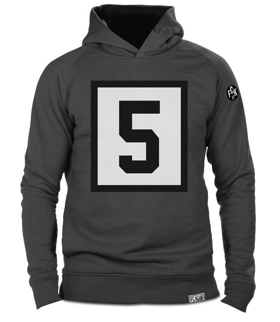Franz Beckenbauer nummer 5 Der Kaiser hoodie in het grijs