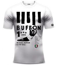 Buffon shirt limited edition zwart wit met print in organisch katoen