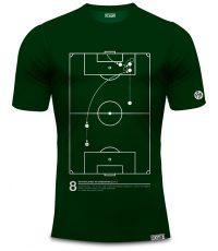 Dennis Bergkamp t-shirt met actie tegen argentinië in het groen van 100% organisch katoen
