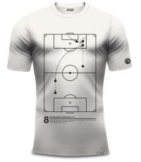 Dennis Bergkamp shirt met actie tegen Argentinië in vintage wit