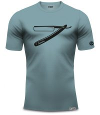 camacho t-shirt scheermes blauw van 100% organisch katoen