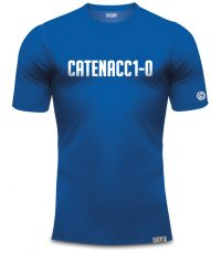 Catenaccio t-shirt blauw van organisch katoen