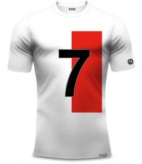 Dirk Kuyt voetbal shirt rood-wit met nummer 7 van 100% organisch katoen