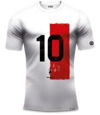 Feyenoord shirt van Van Hanegem met nummer 10 en rood wit van organisch katoen